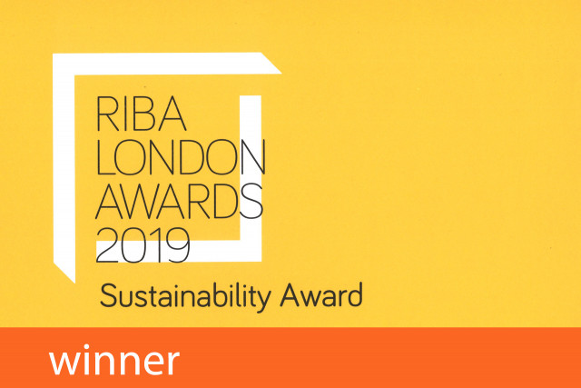 RIBA London Awards Sustainability Winner 2019